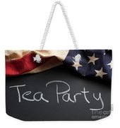 Tea Party Political Sign On Chalkboard Weekender Tote Bag