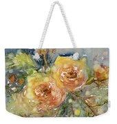 Tea Roses Weekender Tote Bag