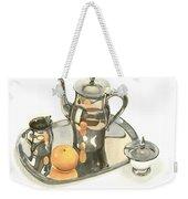 Tea Service With Orange Dramatic Weekender Tote Bag