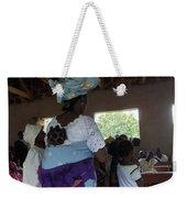 Teacher Backing Her Baby  Weekender Tote Bag