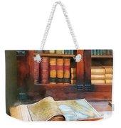 Teacher - Geography Book Weekender Tote Bag by Susan Savad