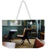 Teacher - One Room Schoolhouse With Clock Weekender Tote Bag