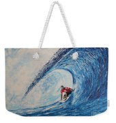 Teahupoo Wave Surfing Weekender Tote Bag
