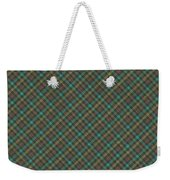 Teal And Green Diagonal Plaid Pattern Fabric Background Weekender Tote Bag