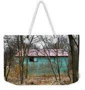 Teal Barn Weekender Tote Bag