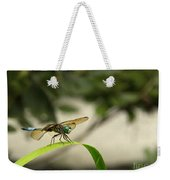 Teal Dragonfly Weekender Tote Bag
