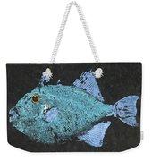 Gyotaku Triggerfish Weekender Tote Bag by Captain Warren Sellers