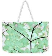 Teal Greens Leaves Melody Weekender Tote Bag