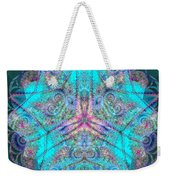Teal Starfish Weekender Tote Bag