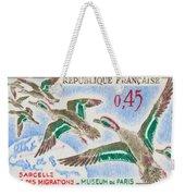 Teal Study Of Migration-museum Of Paris Weekender Tote Bag