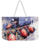 Team Ferrari 500 F2 1952 French Gp Weekender Tote Bag