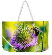 Teasel And Bee Weekender Tote Bag