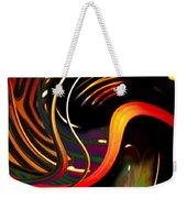 Techno  Neon Stripes Weekender Tote Bag