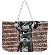 Ted Williams Statue - Boston Weekender Tote Bag by Joann Vitali