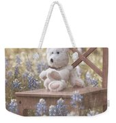 Teddy Bear And Texas Bluebonnets Weekender Tote Bag