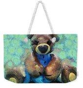 Teddy Bear In Blue Weekender Tote Bag