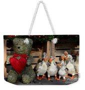 Teddy Bear With Flock Of Stuffed Ducks Weekender Tote Bag