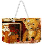 Teddy Bear With Tugboat Doll And Fan Childhood Memories Old Toys And Collectibles Nostalgic Scenes  Weekender Tote Bag
