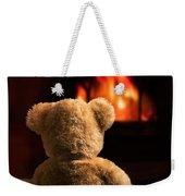 Teddy By The Fire Weekender Tote Bag
