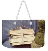 Teen Boy's Back With Books Weekender Tote Bag by Edward Fielding