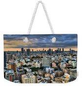 Tel Aviv Skyline Winter Time Weekender Tote Bag
