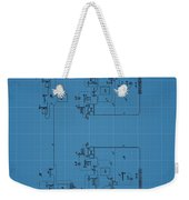 Telegraph Blueprint Patent Weekender Tote Bag