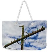 Telegraph Pole - Yesterdays Technology Weekender Tote Bag