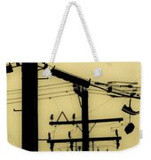Telephone Pole And Sneakers 5 Weekender Tote Bag by Scott Campbell