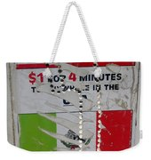 Telephone  Usa Mexico One Dollar Four Minutes Booth Us Mexico Flags Eloy Arizona 2005 Weekender Tote Bag