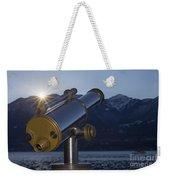 Telescope And Sunrise Weekender Tote Bag