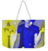 Teller / Early Shadows - Blue And Yellow  Weekender Tote Bag