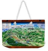 Telluride Ski Map Detail  Weekender Tote Bag
