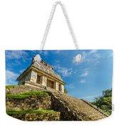 Temple And Blue Sky Weekender Tote Bag