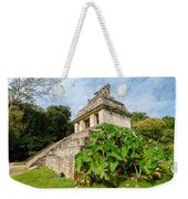Temple And Foliage Weekender Tote Bag