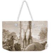 Temple At Agrigentum, Sicily Weekender Tote Bag by Charles Robert Cockerell