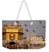 Temple At The Waterfront, Golden Weekender Tote Bag