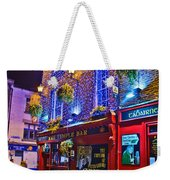 The Temple Bar Pub Dublin Ireland Weekender Tote Bag