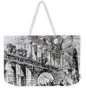 Temple Courtyard Weekender Tote Bag by Giovanni Battista Piranesi