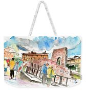 Temple Of Apollo In Siracusa Weekender Tote Bag
