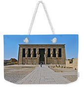 Temple Of Hathor Near Dendera-egypt Weekender Tote Bag by Ruth Hager