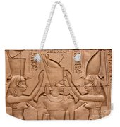 Temple Of Horus Relief Weekender Tote Bag by Stephen & Donna O'Meara