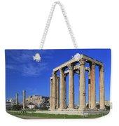 Temple Of Olympian Zeus Athens Greece Weekender Tote Bag