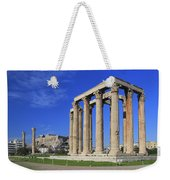 Temple Of Olympian Zeus Athens Greece Weekender Tote Bag