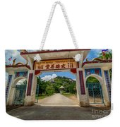 Temple On The Hill Weekender Tote Bag
