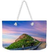 Temple Sunset Weekender Tote Bag