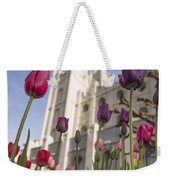 Temple Tulips Weekender Tote Bag by Chad Dutson