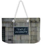 Temple U Weekender Tote Bag