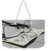 Ten Dollar And Eyeglasses Weekender Tote Bag