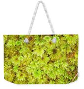 Tender Fresh Green Moss Background Texture Pattern Weekender Tote Bag