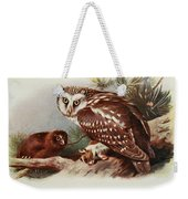Tengmalms Owl Weekender Tote Bag